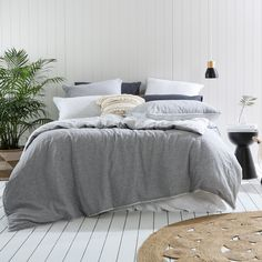 Stripe Linen Cotton Quilt Cover Set
