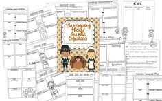 Thankgiving Themed Graphic Organizers