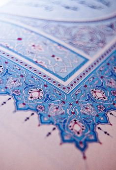 Page corner decoration on a book of Quran