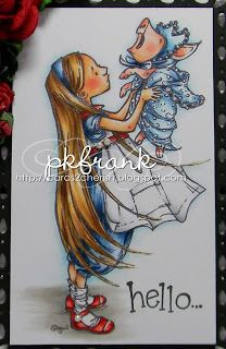 """I'm back with another fun """"Sneak Peek"""" from Mo Manning! This sweet image is called """"Modern Alice"""" and will be coming t. Mo Manning, Paper Artist, Stamps, Alice, Create, Girls, Modern, Fun, Animals"""