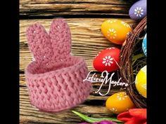 Easter Crochet, Crochet Crafts, Crochet Toys, Knit Crochet, Crochet Basket Pattern, Crochet Patterns, Yarn Projects, Crochet Projects, Crochet T Shirts