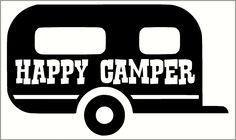 Happy Camper Vinyl Decal with Camper Design - Wall Decor Plus More