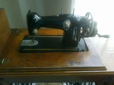 Sewing machine on Singer treadle. Trico is/was a South African sewing machine reseller, so this is rebranded mystery model.