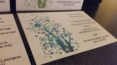10 Handmade Invitations/save the date - RETRO TREE - All Occasions full set