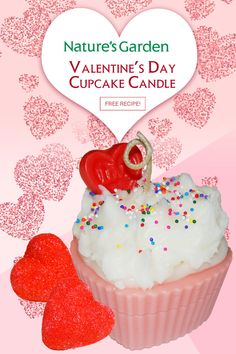 Valentines Day Cupcake Candle Recipe by Natures Garden.