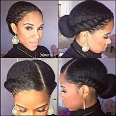 Looking for a way to wear your hair but without needing to rely on cornrows? You need to check out these gorgeous flat twist hairstyles! Cabello Afro Natural, Pelo Natural, Natural Hair Updo, Natural Hair Journey, Natural Hair Care, Natural Hair Styles, Natural Shampoo, Flat Twist Hairstyles, Cool Hairstyles