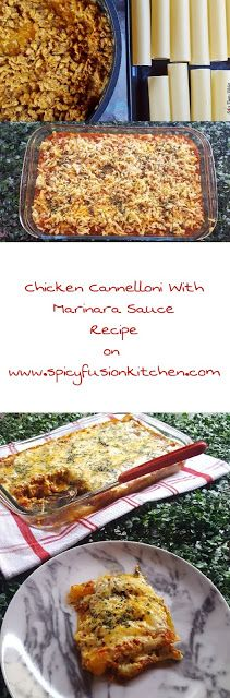 Chicken Cannelloni with Marinara Sauce Recipe - Perfect home cooked meal for the family :)  #Italian #Italianfood #food #foodrecipe #spicyfood #recipe
