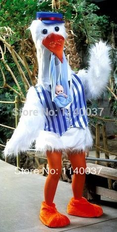 2eaf00df3 mascot High Quality White Stork Mascot Costume with Baby Gift Adult Size  Professional Mother and Baby Advertising Mascotte
