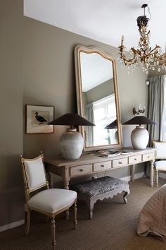 Another great big mirror and lively proportion for the dressing unit. Interior, Interior Inspiration, Home Decor, House Interior, Home Deco, Stylish Interior Design, Interior Design, Home And Living, Console Table Styling