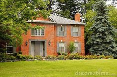 gray shutters on orange brick house image - Yahoo Image Search Results