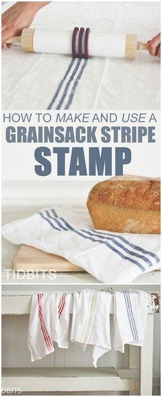 This genius DIY Grainsack stamp tutorial makes the process of making authentic-looking grainsacks so easy!