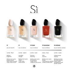 Parfum Chic, Giorgio Armani Si, Perfume Display, Perfume Scents, Manicure Y Pedicure, Best Fragrances, Best Perfume, Perfume Collection, Jasmin