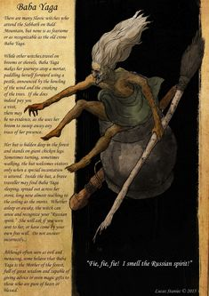 SLAVIC BESTIARY project of mine i do together with my wife. Something very close to me, always wanted to illustrate creatures from slavic folklore Mythical Creatures Art, Mythological Creatures, Fairytale Creatures, Cthulhu, World Mythology, Myths & Monsters, Legends And Myths, Arte Obscura, Baba Yaga