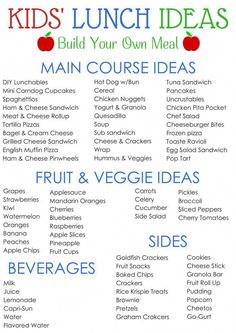 Days of Kids Lunch Ideas Kids' School Lunch Ideas! 30 days of complete menus PLUS printable you can use to customize your own meals! 30 days of complete menus PLUS printable you can use to customize your own meals! Cold Lunches, Lunch Snacks, Lunch Meals, Baby Snacks, Kid Snacks, Healthy Kids, Healthy Snacks, Back To School Lunch Ideas, Cold Lunch Ideas For Kids