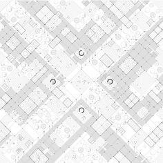.Pedestrian Crossroad.   The condition presented is that of pedestrianized crossroad.The ground floor of the city expands in multipledirections within the continuity the Pilotis .Axes of movement coexist with places of stasis whilenature is dispersed equally around the city.