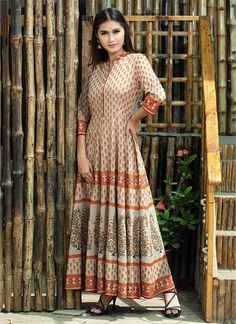 7a234d35ead Printed Gown  Buy Printed Gown Online at Best Prices in India -  Sareeswholesale