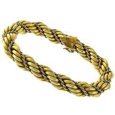 Estate_Mid_Century_1940s_18k_Yellow_Gold_Rope_Bracelet | New York Estate Jewelry | Israel Rose