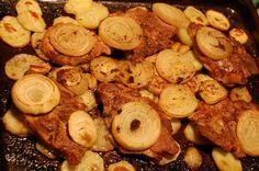 Tepsis hús és krumpli - Eszterlánc főz