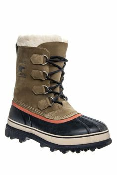 Sorel caribou boot men s olive brown multi 12 0 http