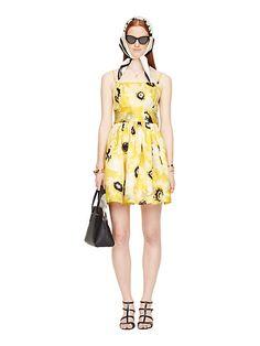 sunny daisy organza bow dress | Kate Spade New York