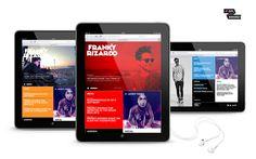 Responsive webdesign for DJ Franky Rizardo www.frankyrizardo.com
