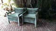 Pair Of Vintage Milo Baughman Style Parsons by CreekStreetUnique