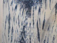 Hand-Dyed, Shibori Cotton Fabric India.Indigo Blue, Bandhani, Print 44' #Handmade
