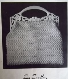Gimp cord Crochet Purse Zig Zag bag