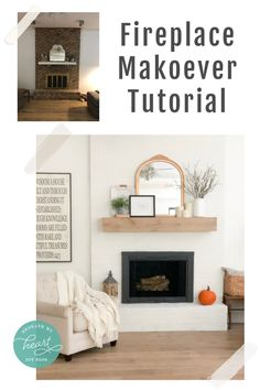 Our Fireplace Makeover Reveal - Beneath My Heart