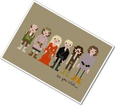 Pixel People - The Princess Bride - PDF Cross Stitch Pattern - INSTANT DOWNLOAD