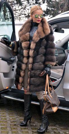 Modern sable coat