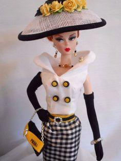 OOAK Silkstone Vintage Barbie Handmade Fashion Royalty Poppy Parker by Mary in Dolls & Bears, Dolls, Barbie Contemporary (1973-Now), Clothing & Accessories, Clothing, Custom, Handmade | eBay