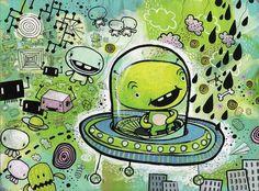 Green Alien by Jim Bradshaw