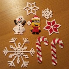 Christmas ornaments hama beads by _linols_