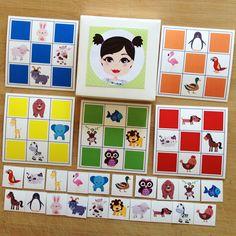 """""""Pia Polya Hayvanlar Temalı TOMBALA """" Küçük parçaları bir keseye koyarak ve çekiliş yaparak tüm ailece oynayınız. 12ay ve 48ay çocuklar içindir. A3"""