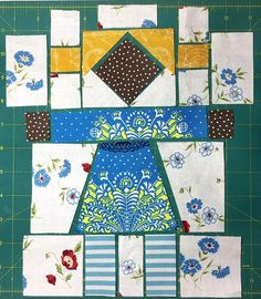 Girl Next Door - Month 4 - Girl Block – Red Thread Studio Cute Quilts, Mini Quilts, Baby Quilts, Children's Quilts, Quilt Block Patterns, Pattern Blocks, Quilt Blocks, African Quilts, Quilt Border