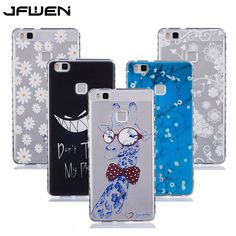 For Coque Huawei P9 Lite Case Silicon Transparent Flower Colorful Printed Soft TPU Case For Huawei P9 Lite Case Cover Back