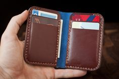 Small credit card wallet from One Star Leather Goods