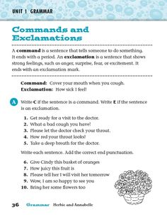 8 Best Command Exclamation Images On Pinterest Grammar, Kinds Of Statement And Question Worksheets Printables Commands And Explanations Worksheet Lesson Planet Lesson Planet, Salama, Punctuation, Read Aloud