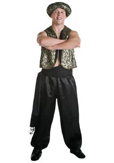 Become a mythical genie and grant 3 wishes to the lucky finder of your l&. This is a fun menu0027s costume for any Halloween or theme event.  sc 1 st  Pinterest & MENS ARABIAN NIGHTS BANDIT GENIE ALADDIN PANTO FANCY DRESS COSTUME ...