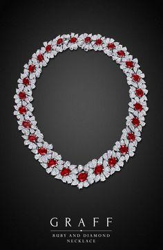Graff Diamonds: Ruby and Diamond Necklace