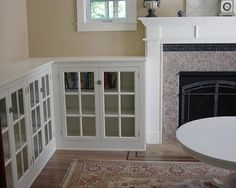 Built in with gas fireplace