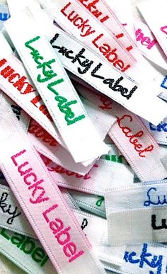 50 Pieces of Woven Clothing Labels Name Tags  by luckylabel, $14.95