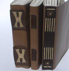 My Handbound Books - Bookbinding Blog: Three Types of Langstichheftung