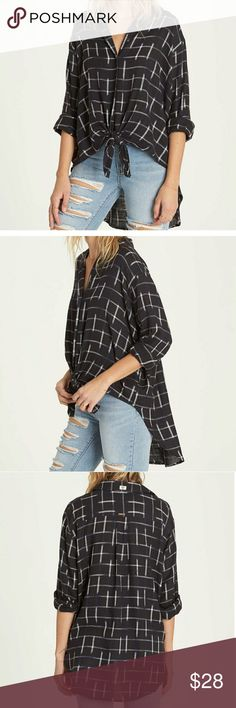 1822c84148164c New BILLABONG Cozy Nights Top New with tag Size Small Button-down front.  Long sleeves 100% Cotton In my opinion runs a little big. Same or next day  Shipping ...