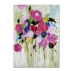 """Trademark Art """"Mi Amor"""" by Carrie Schmitt Painting Print on Wrapped Canvas Size: 19"""" H x 14"""" W x 2"""" D"""