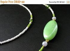 HOLIDAY SALE Beaded Lanyard or Eyeglass Chain.  Badge Lanyard. Lime Green Lanyard. Eyeglass Necklace. ID Lanyard. Eyeglass Holder. Handmade by Gilliauna from Bits n Beads by Gilliauna. Find it now at http://ift.tt/2yJb89O!