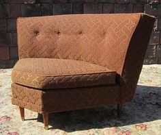 Vintage Wormley Era Mid Century Modern Designer COCOA BROWN Sectional Sofa