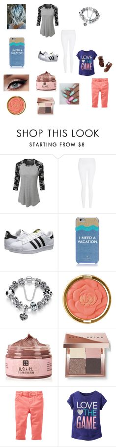 """""""Back from holiday"""" by bellzellz ❤ liked on Polyvore featuring LE3NO, New Look, adidas Originals, Kate Spade, Milani and Bobbi Brown Cosmetics"""