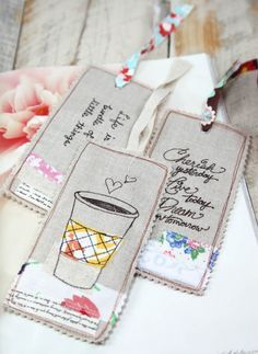 Linen Bookmarks | Minki's Work Table